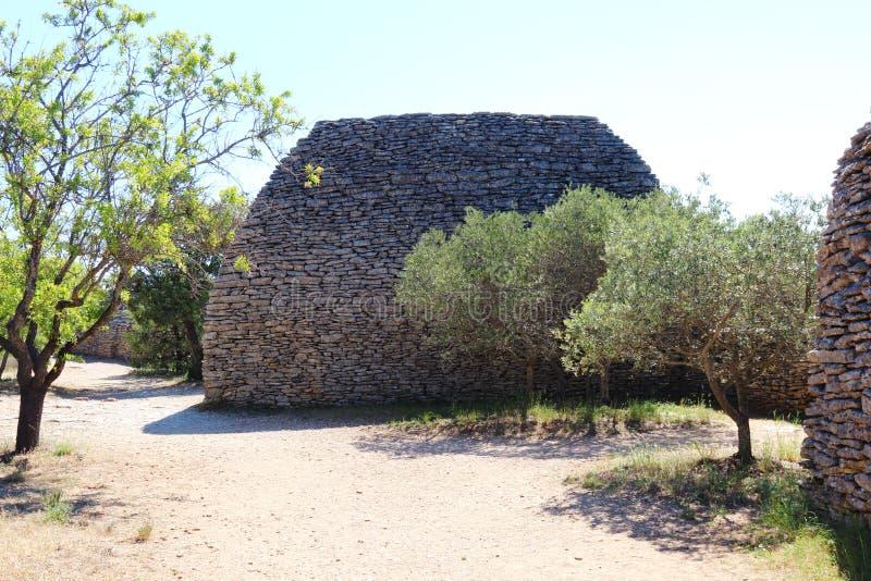 Hutte de pierres sèches, Français Bories Village, Gordes image stock
