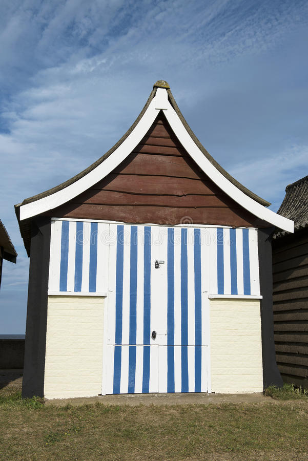 Hutte de plage chez Mablethorpe photo libre de droits