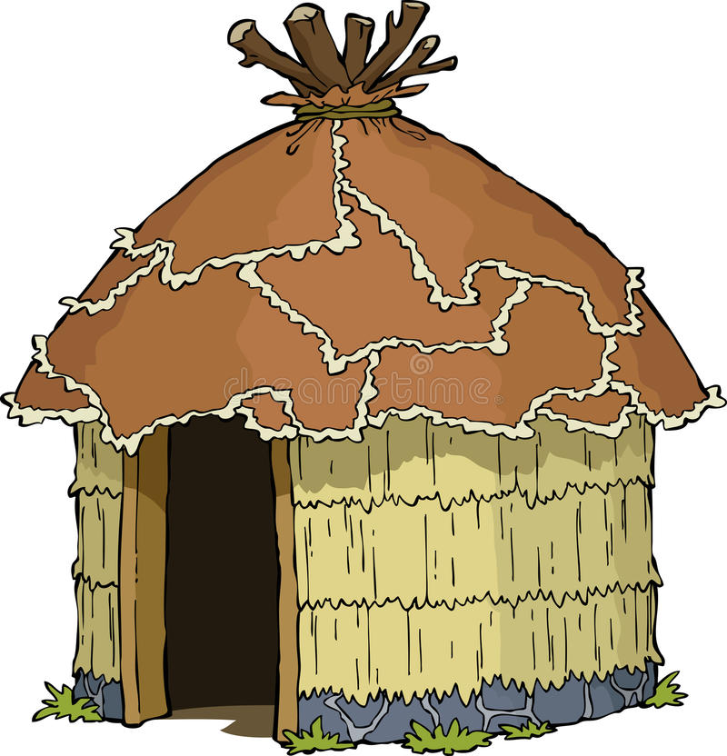 Hutte indigène illustration stock