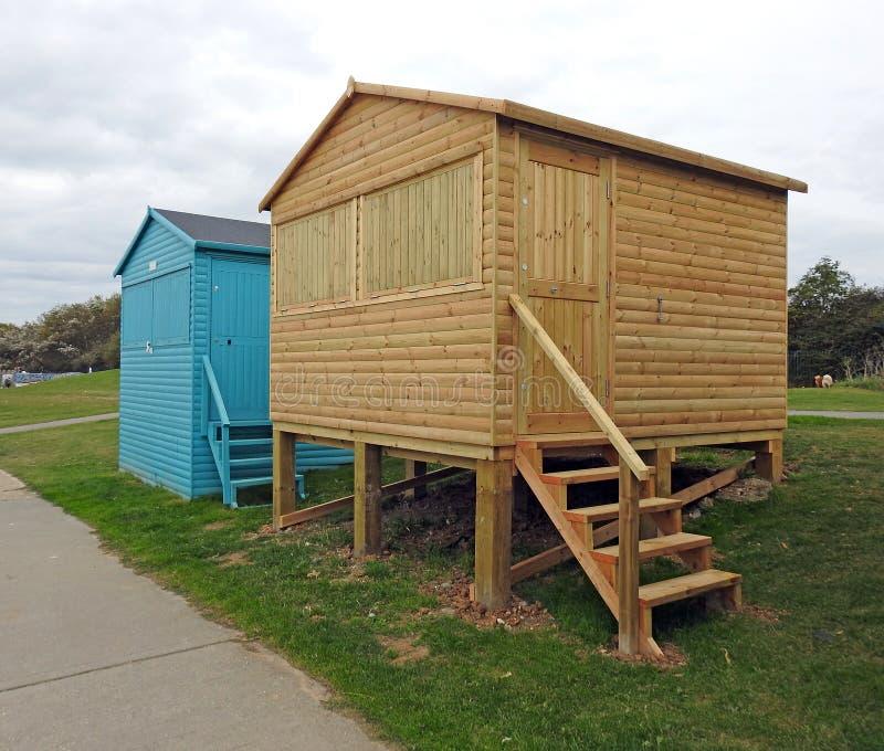 Hutte nouvellement construite de plage photo libre de droits