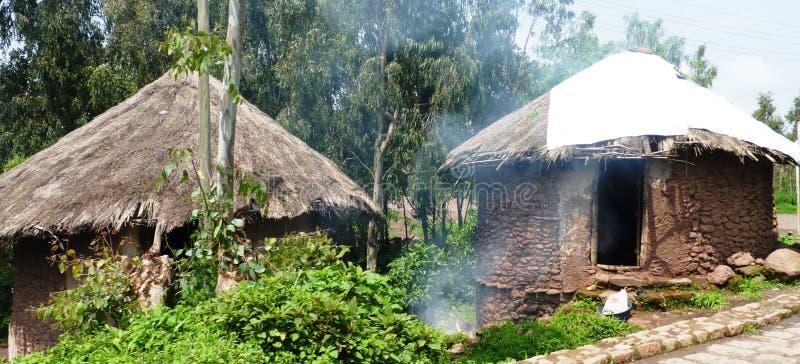 Huttes éthiopiennes photos stock