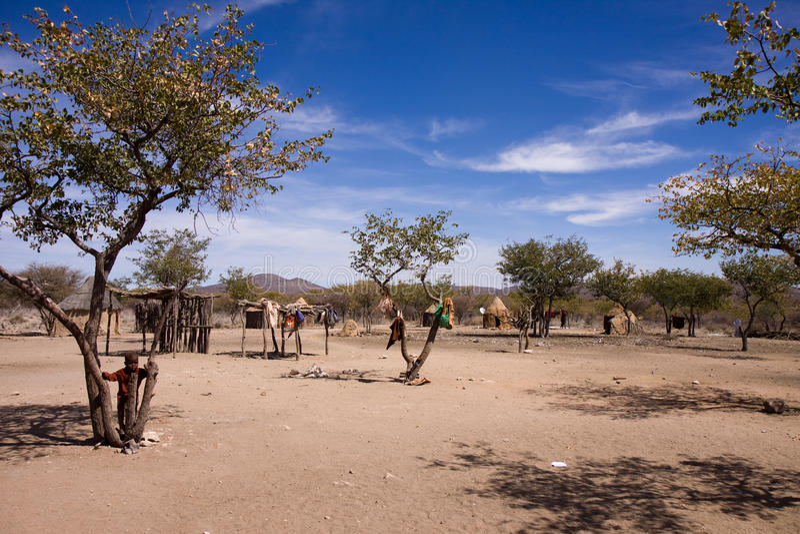 Huttes de Himba photos libres de droits