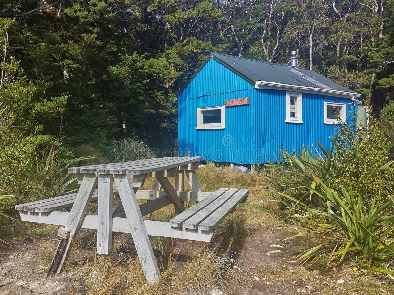 Huttes de montagne de NZ images libres de droits