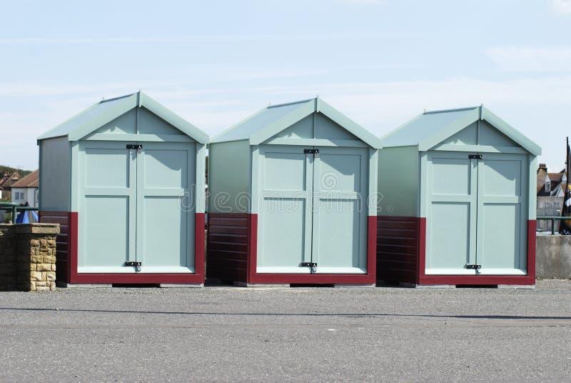Huttes de plage à soulever, Brighton, le Sussex, R-U images libres de droits
