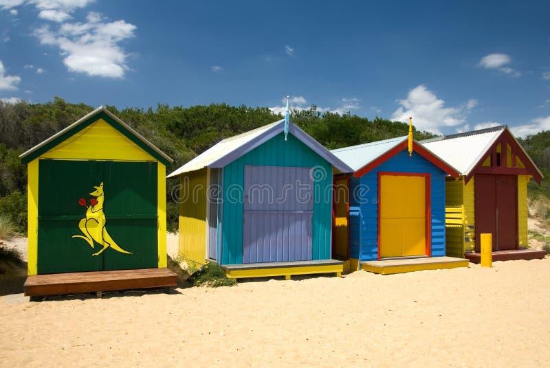 Huttes de plage photographie stock