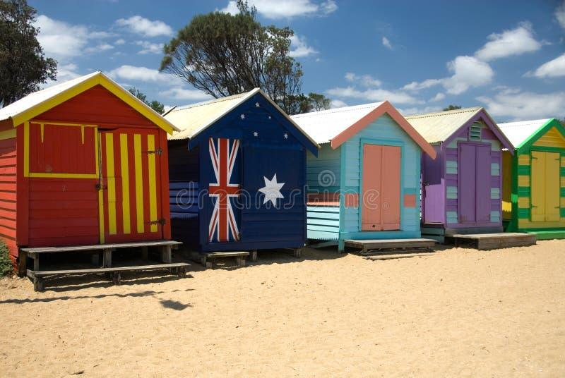 Huttes de plage photo stock