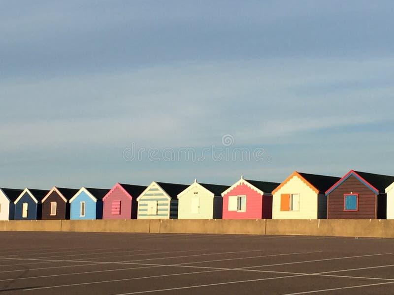Huttes de plage au southwold photographie stock