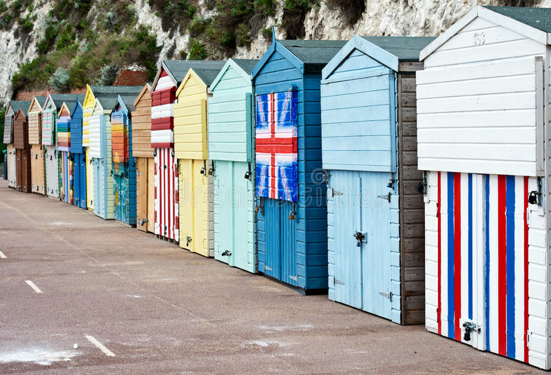 Huttes de plage de Broadstairs photographie stock libre de droits