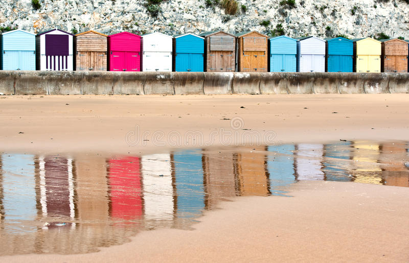 Huttes de plage de Broadstairs images libres de droits