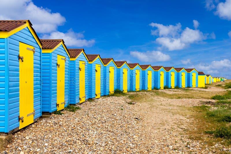 Huttes de plage de Littlehampton photo libre de droits