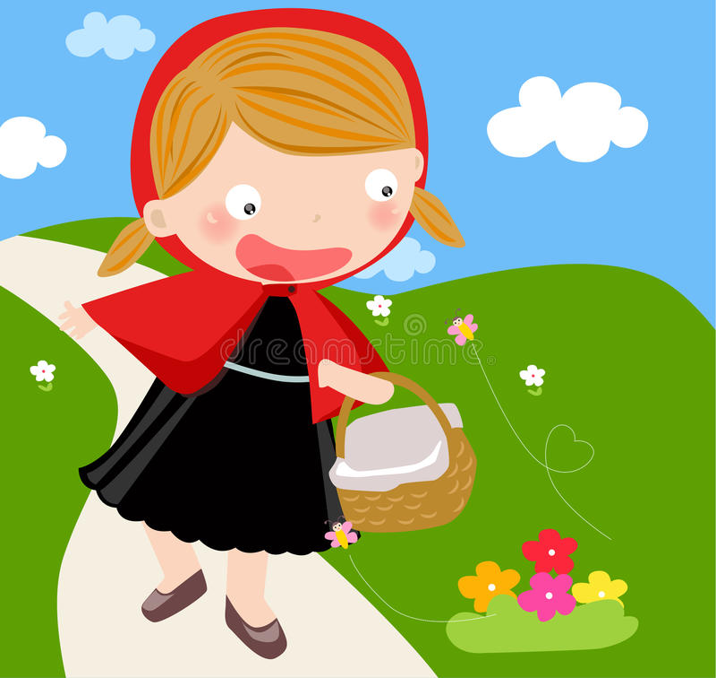 huv little röd ridning stock illustrationer