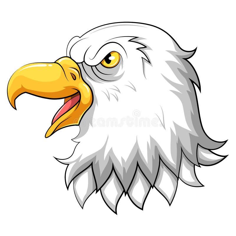 Huvud av den Eagle maskot royaltyfri illustrationer