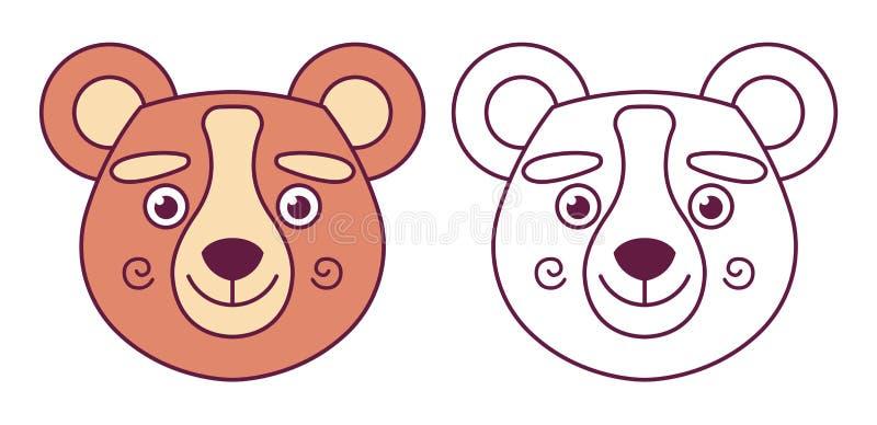 Huvud av en björn i färg vektor illustrationer