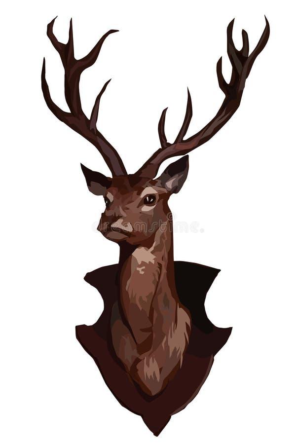 Huvud av en hjortvektorbild royaltyfri illustrationer