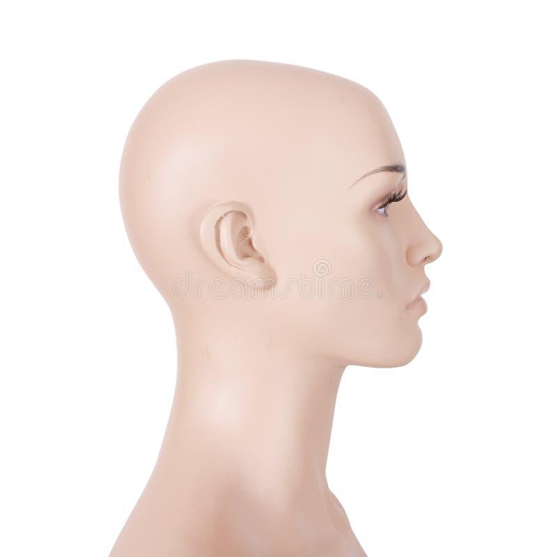 Huvud av en kvinnligskyltdocka royaltyfri bild