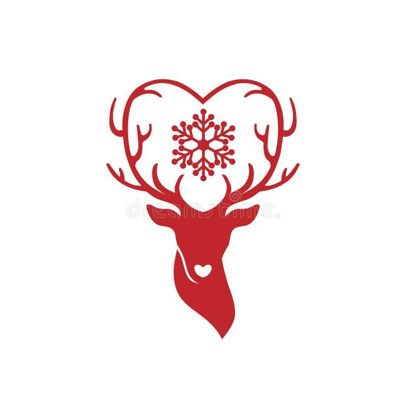Huvud av hjortar royaltyfri illustrationer
