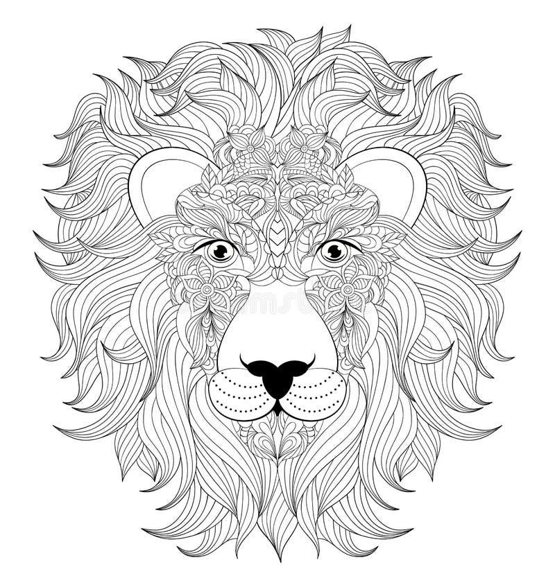 Huvud av lionen royaltyfri illustrationer