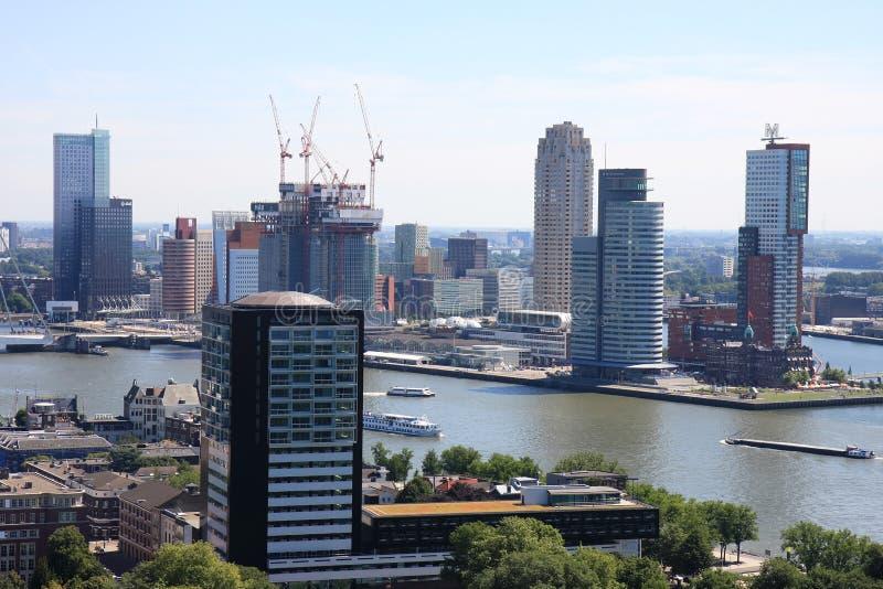 Huvud av söder i den Rotterdam staden, Holland arkivfoto