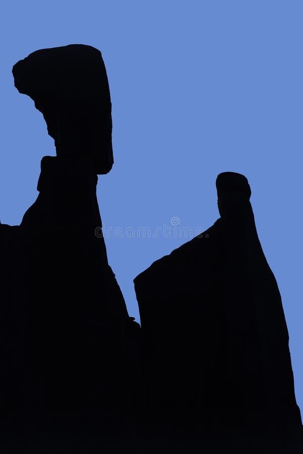 Huvud för Nefertiti ` s, bågenationalpark arkivfoton