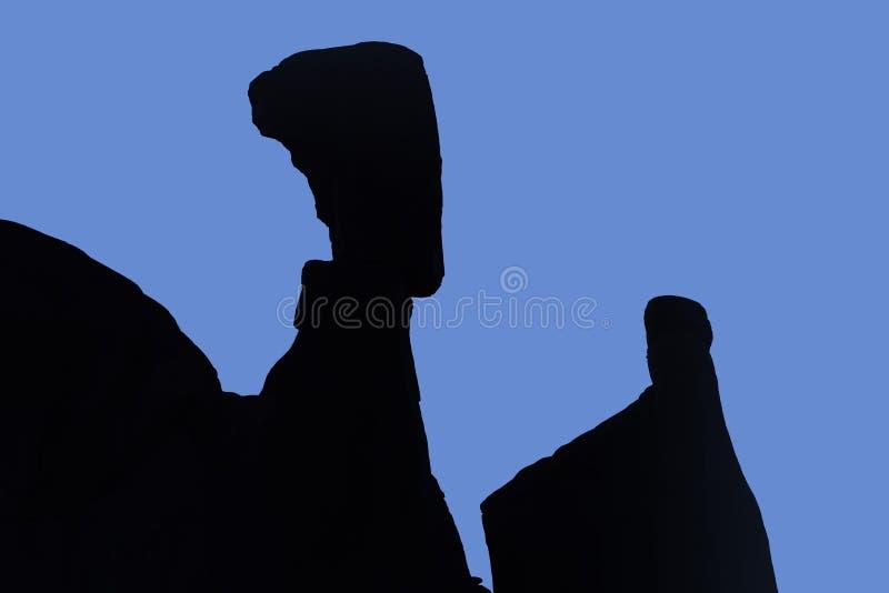 Huvud för Nefertiti ` s, bågenationalpark arkivfoto