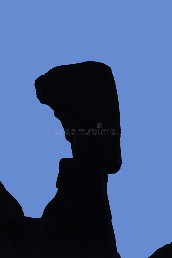 Huvud för Nefertiti ` s, bågenationalpark royaltyfri foto