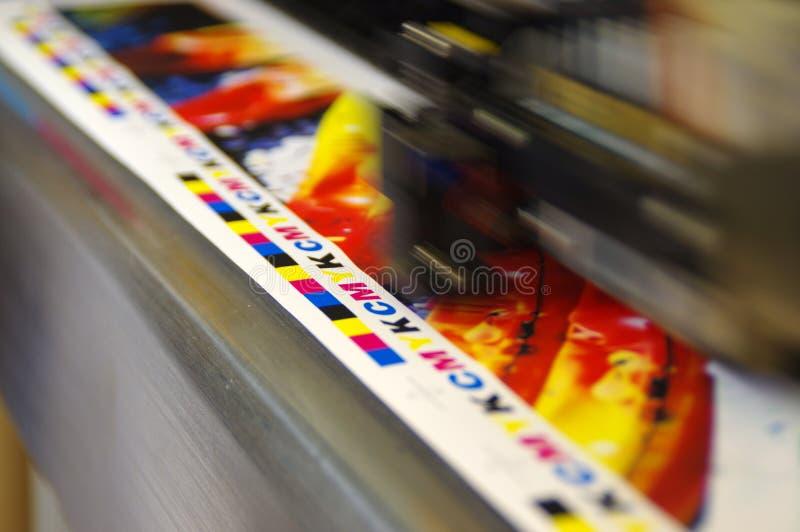 Huvud för printing CMYK royaltyfria foton