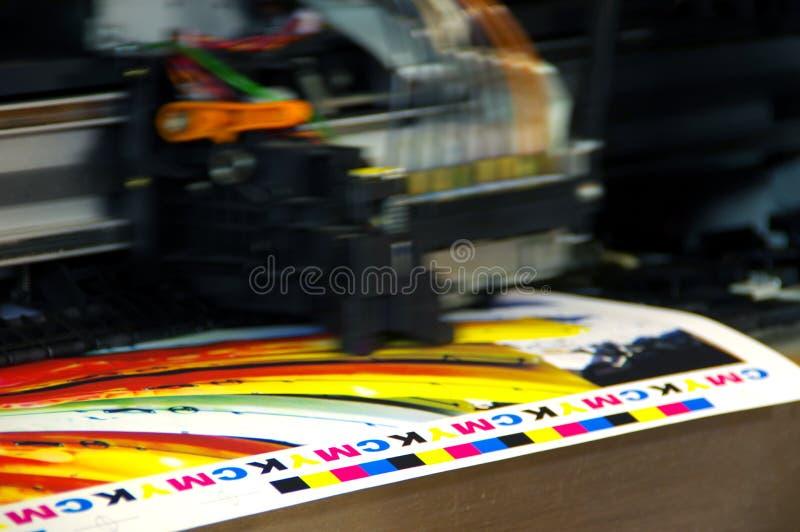 Huvud för printing CMYK royaltyfri bild