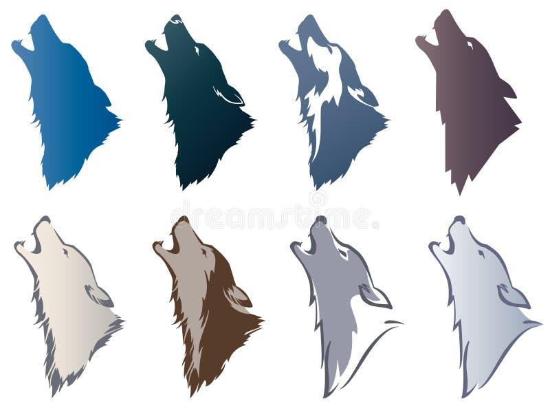 Huvud för varg` s royaltyfri illustrationer