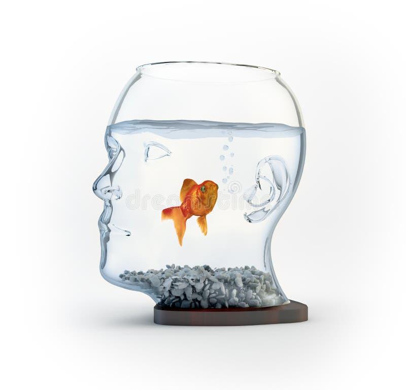 Huvud formad fishbowl vektor illustrationer