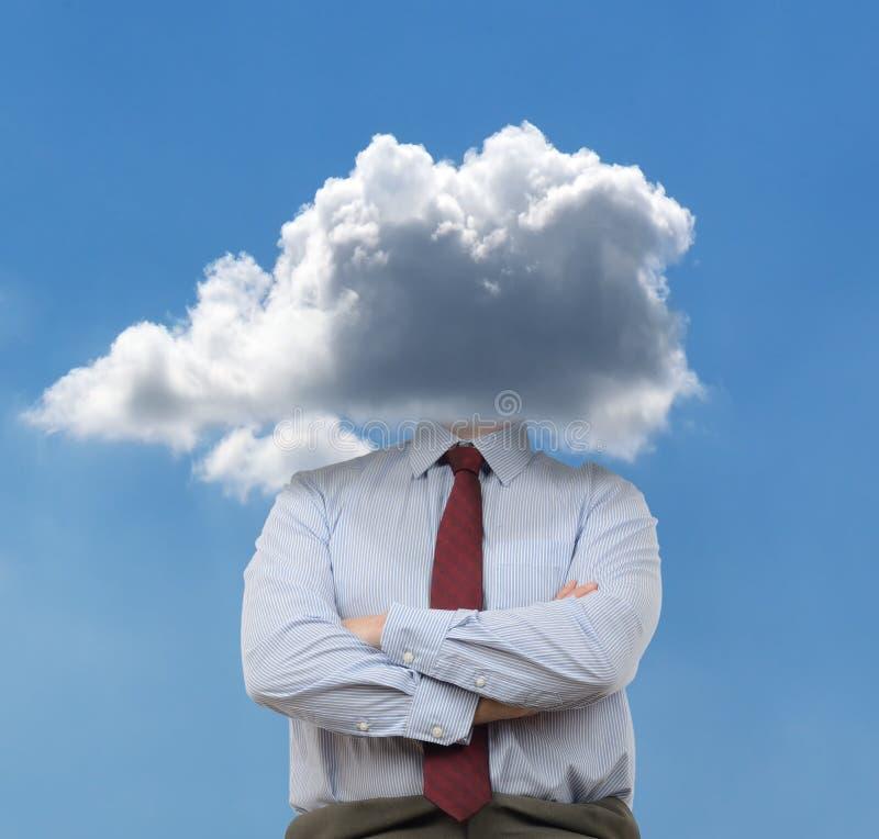 Huvud i molnen arkivfoto