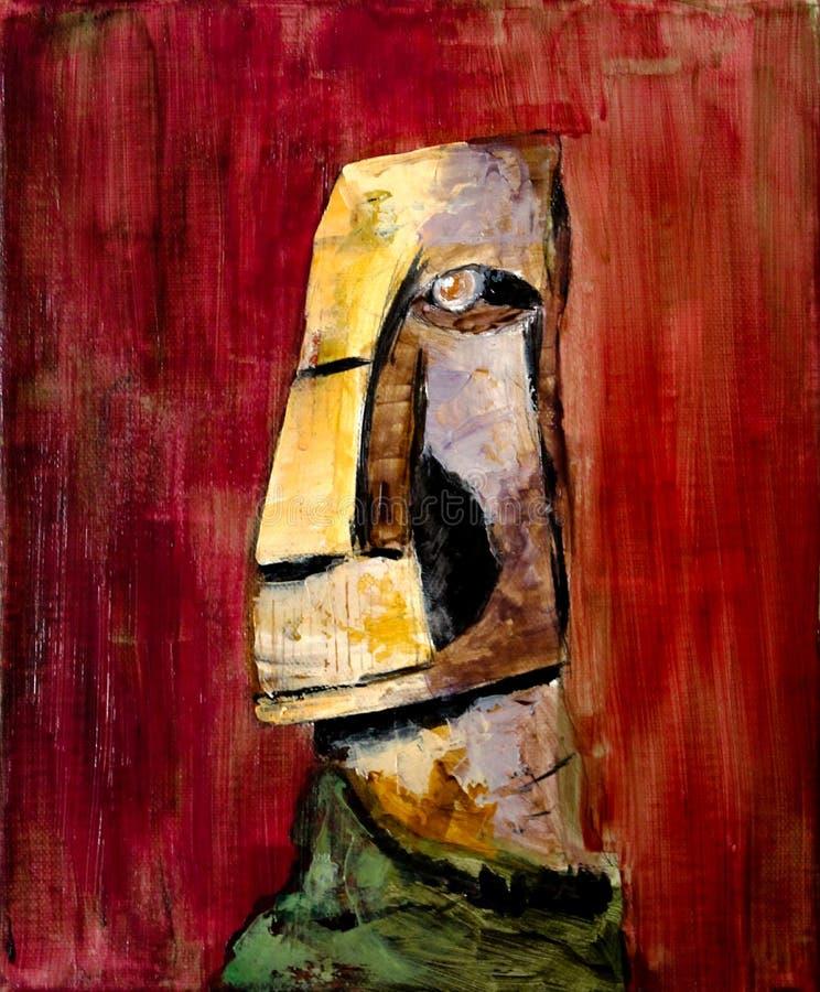 Huvud Moai för påskö royaltyfri foto