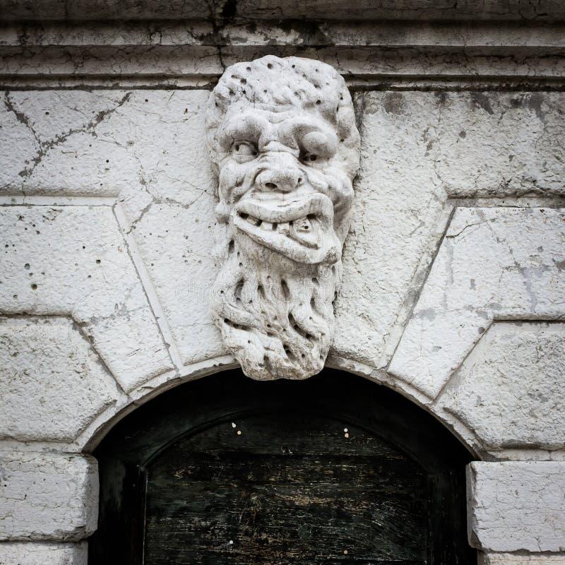 Huvud på Santa Maria Formosa Venedig arkivfoton