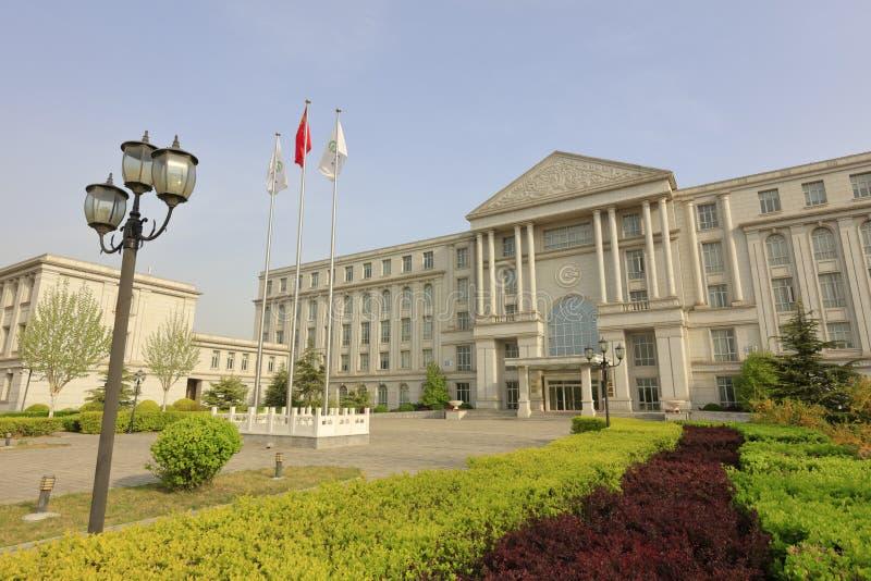 Huvudbyggnad av högskolan beijing för kinesiskt språk och kultur, Adobe rgb royaltyfri bild
