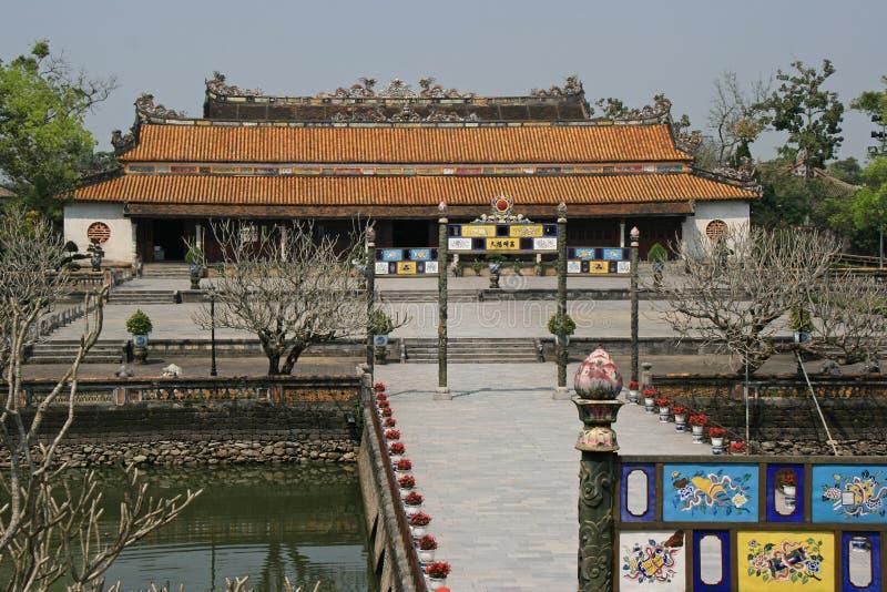 Huvudbyggnaden av den imperialistiska staden av tonen, Vietnam royaltyfria foton