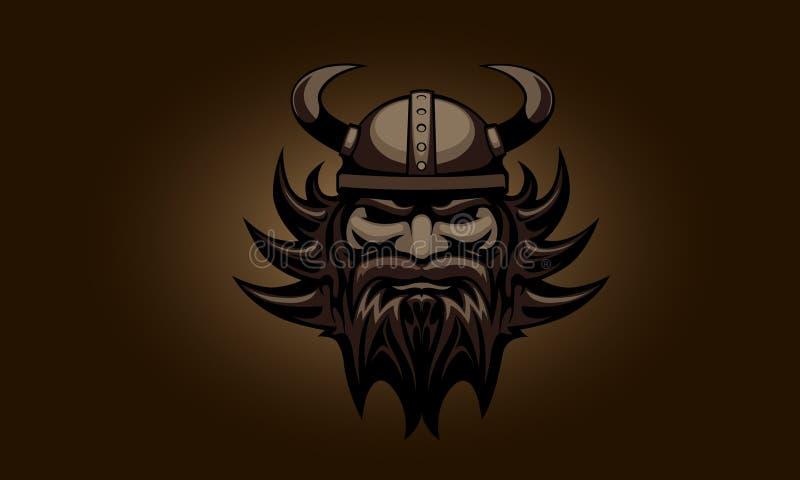 Huvudet av Viking vektor illustrationer