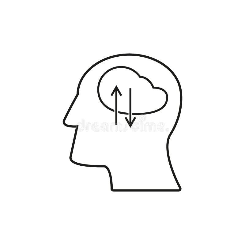 Huvudet med arbetssymboler kommer upp idé vektor illustrationer