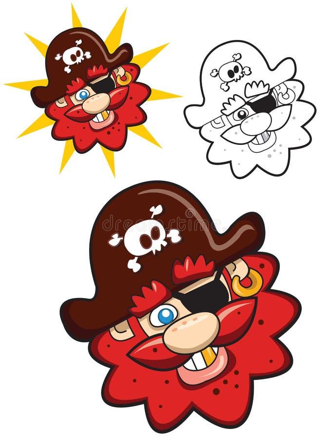 huvudet piratkopierar vektor illustrationer