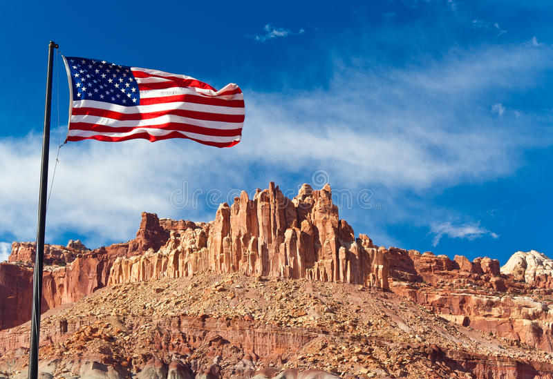 huvudflagganationalparken revar oss USA arkivfoton