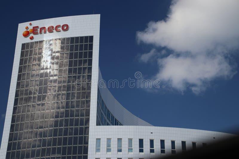 Huvudkontor av energiföretaget Eneco i Rotterdam Nederländerna arkivfoton