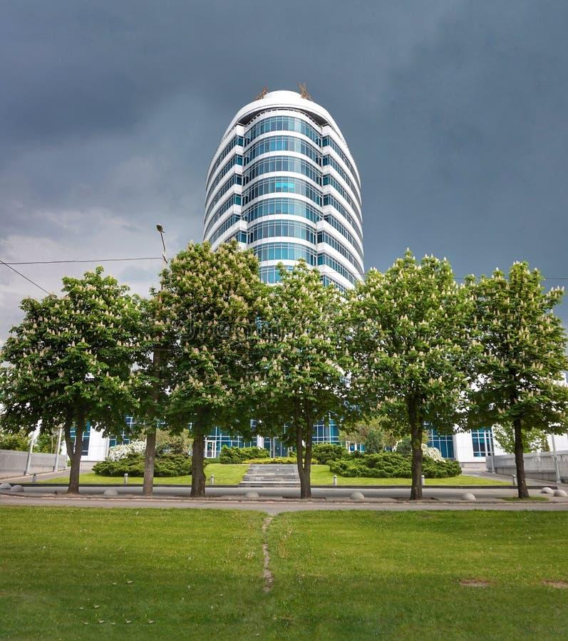 Huvudkontoret av en av mobiloperatörerna i staden av Dnepr ukraine royaltyfria foton