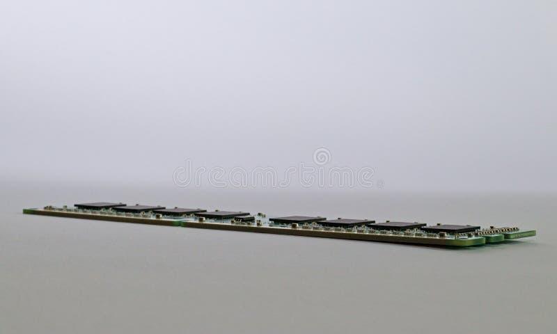 Huvudminnesramdatormodul på vit bakgrund royaltyfria foton