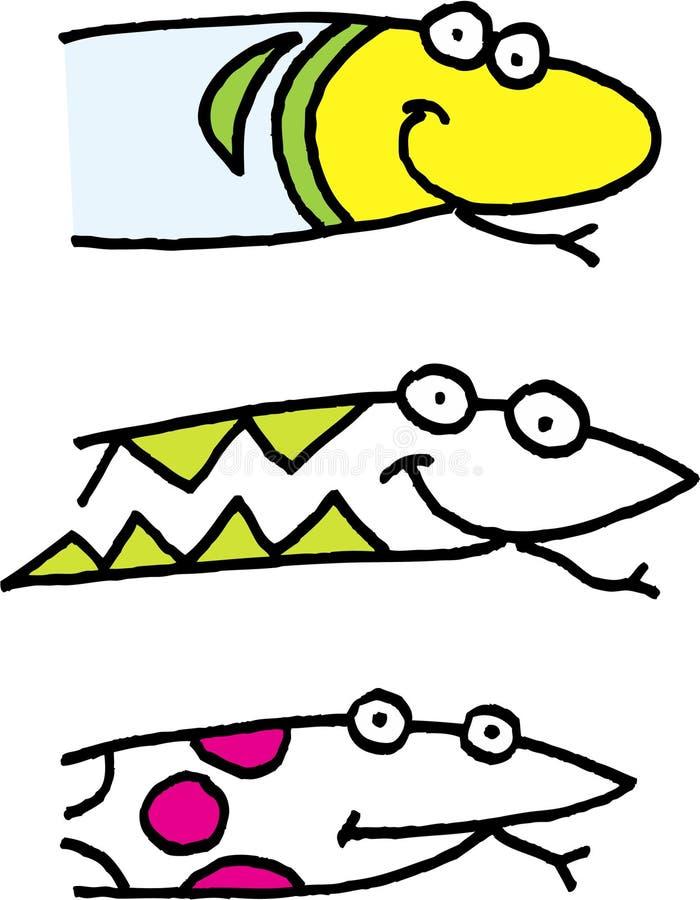 huvudormar royaltyfri illustrationer