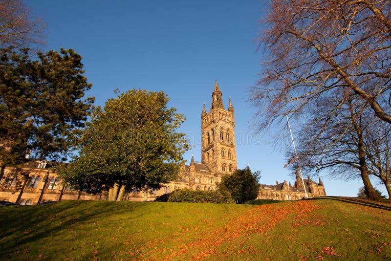 Huvudsaklig byggnad för Glasgow universitetar royaltyfria bilder
