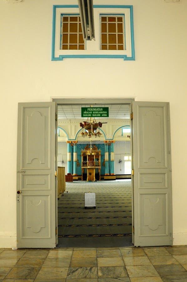 Huvudsaklig dörr av Sultan Ibrahim Jamek Mosque arkivfoton