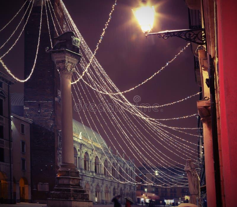 Download Huvudsaklig Fyrkant Av VICENZA City I Italien Med Tappningeffekt Fotografering för Bildbyråer - Bild av lopp, italienare: 106838441