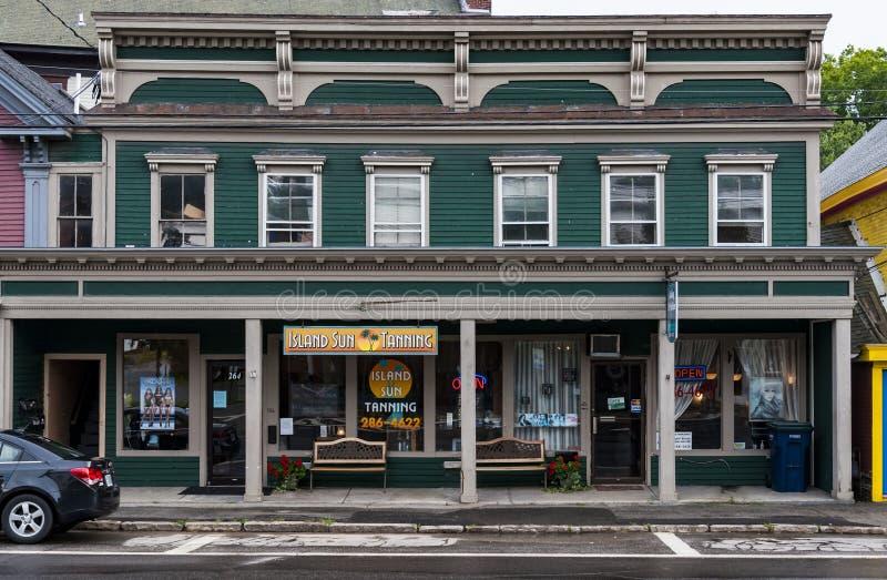 Huvudsaklig gata i Northfield, Maine royaltyfria bilder