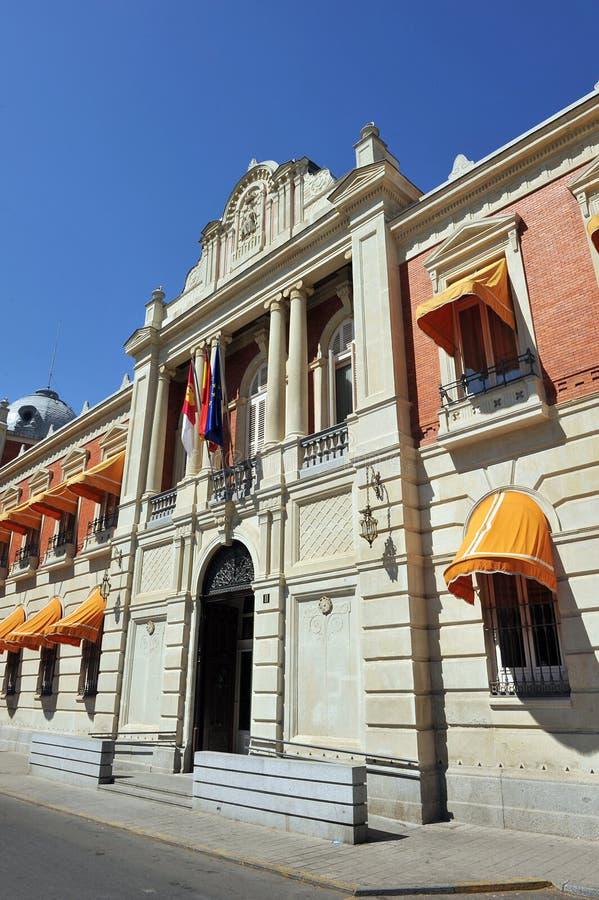Huvudsaklig ingång i TÂ-¡ det provinsiella rådet av Ciudad Real, Spanien arkivfoto
