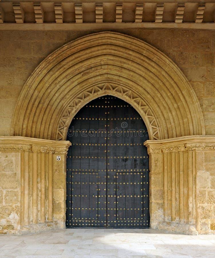 Huvudsaklig ingång, kyrka av San Lorenzo, Cordoba, Spanien arkivfoton