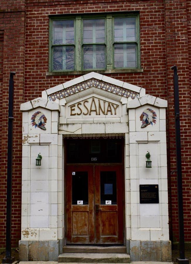 Huvudsaklig ingång till Essanay studior royaltyfria bilder