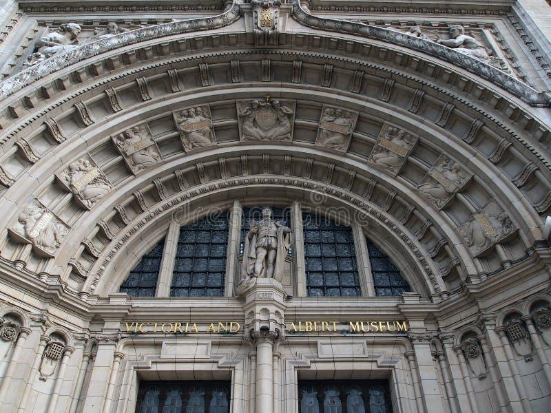 Huvudsaklig ingång, Victoria och Albert Museum, London arkivfoton